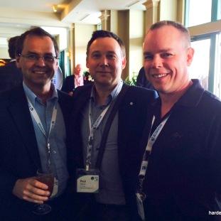 with Terry Kuzma, Woodlands Manager Carrier Lumber Ltd., and Glen Sawkins, Sales Manager Dunkley Lumber Ltd.