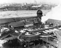 Sawmill at Granville Island with Yaletown and Downtown in the background
