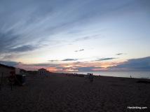 Sunset swim at Cavendish Beach