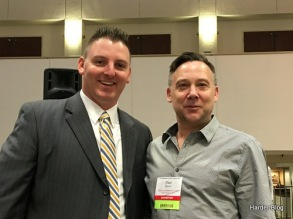 With Northwestern Lumber Association President Cody Nuernberg at the breakfast session