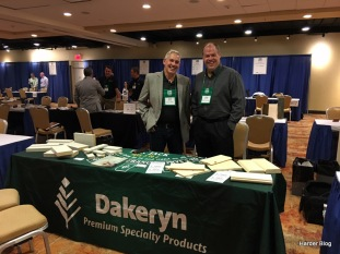 Dakeryn Specialties Manager Brad Taylor with Mike Jones, Hampton Lumber - 25 Oct 2017